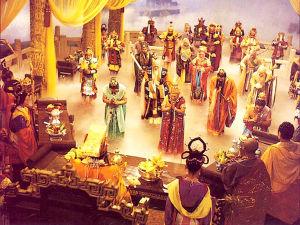 Cảnh thiên đình trong phim Tây du ký, một sự tiếp thu tín ngưỡng dân gian Trung Quốc. Nguồn: http://www.baike.com