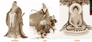 Dung hợp Nho - Phật - Đạo là điểm chung của các tôn giáo dân gian Việt - Trung. Nguồn: http://trelangkienviet.com