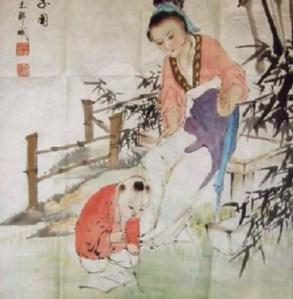 Mạnh mẫu dạy con. Nguồn: www.angten.net