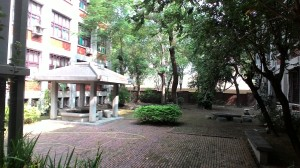 Một góc vườn trong Khoa Văn học Trung Quốc