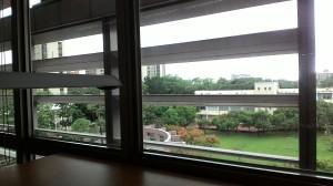 Sân trường NCKU nhìn từ thư viện tầng 4